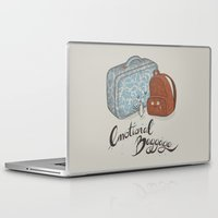 backpack Laptop & iPad Skins featuring I hate goodbyes. by Lidija Paradinović Nagulov - Celandine
