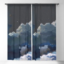 Fantastic Romantic Full Moon Above Clouds At Night Anime Scenery Ultra High Definition Blackout Curtain