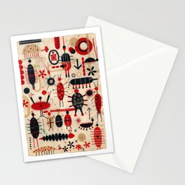 Red and Black Bugs Stationery Cards