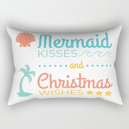Mermaid Kisses and Christmas Wishes Rectangular Pillow