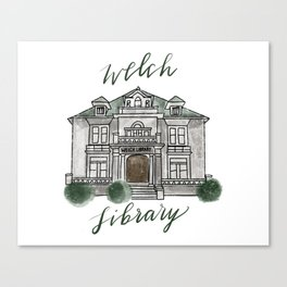 Welch Library Canvas Print