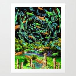 Hoppin' Money Art Print