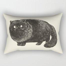 Black Persian Cat Rectangular Pillow