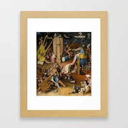 Visions of Hell by Heironymus Bosch Framed Art Print
