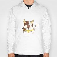 cow Hoodies featuring Cow by jebirvoki