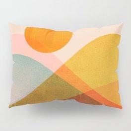 Abstraction_SUNSET_LANDSCAPE_POP_ART_Minimalism_018X Pillow Sham