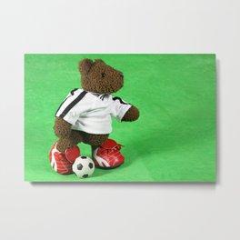 Soccer Teddy | Fussball-Teddy Metal Print