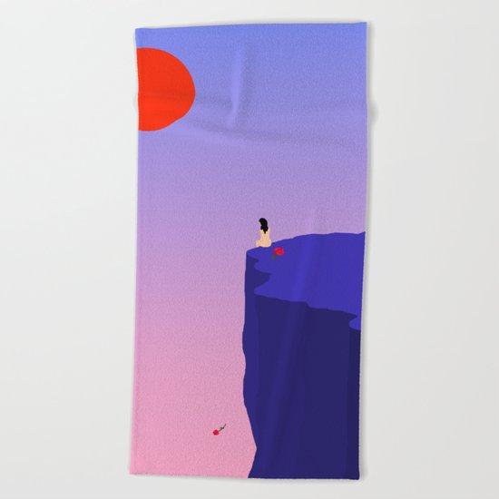 Cliff//Rose Beach Towel