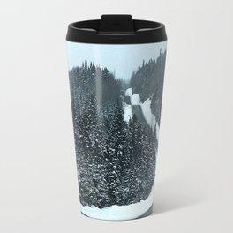 Winter Mountain Road Travel Mug