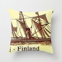 Steamship Nicolai Throw Pillow