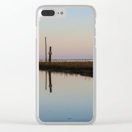 Looking out to Lindisfarne Clear iPhone Case