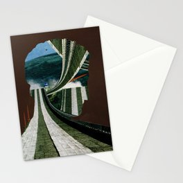 Weltreligion Autofahren · Far away on the endless road Stationery Cards