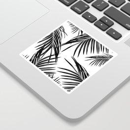 Black Palm Leaves Dream #1 #tropical #decor #art #society6 Sticker