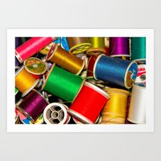Sewing Thread Art Print