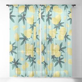 Lemon Twist Vibes #1 #tropical #fruit #decor #art #society6 Sheer Curtain