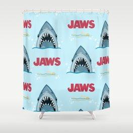 Shark Pattern no.1 Shower Curtain