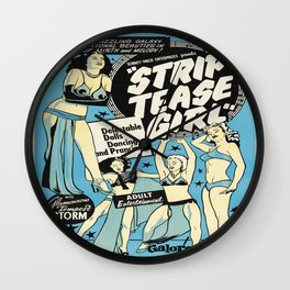 Vintage poster - Strip tease Girl Wall Clock