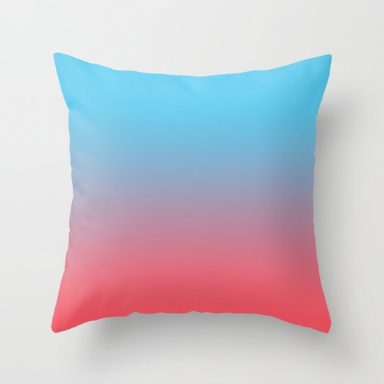 Sunrise Ombre Throw Pillow