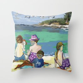 Esmeralda & Brood (Saw Sea Art Series) Throw Pillow