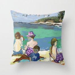 Esmeralda & Brood (Saw Sea Art Series) Throw Pillow