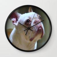 boston Wall Clocks featuring Boston  by Sarahpea