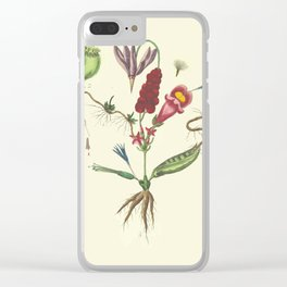 Flaw Flower Clear iPhone Case