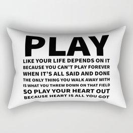 Heart Is All You Got Typography Rectangular Pillow