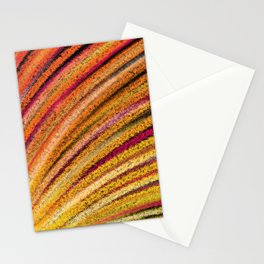 Abstract Sunrise Sunburst in Yellow and Orange Stationery Cards