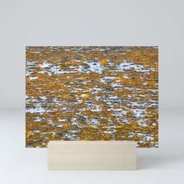 Moss on wood Textures 12 Mini Art Print