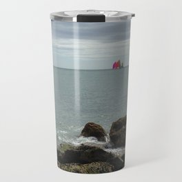 Sailboat Race Travel Mug