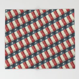Vintage Texas flag pattern Throw Blanket