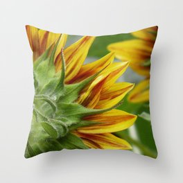 sunflower 01 - a unique perspective of this August beauty Throw Pillow