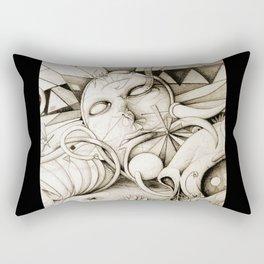 Echidna (closer) || Cult || Skull || Flower Rectangular Pillow