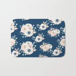 Dog Rose Pattern Bath Mat