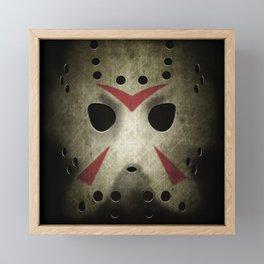Slasher Hockey Mask Framed Mini Art Print