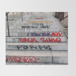 Croix Rousse stairs Throw Blanket