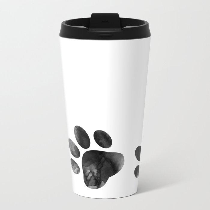 Cat's footprints Metal Travel Mug