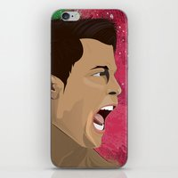 ronaldo iPhone & iPod Skins featuring Cristiano Ronaldo by Pastran Designs