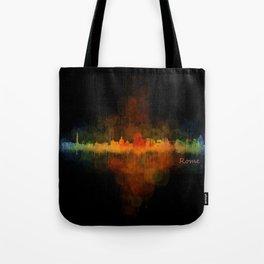 Rome city skyline HQ v04 Dark Tote Bag