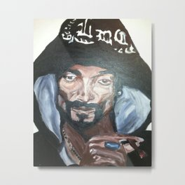 Snoop Dogg Fingerpainted Acrylic Painting Metal Print