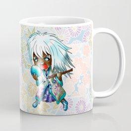 angry chibi dark elf with broken crystal ball Coffee Mug