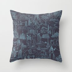 My destinations Throw Pillow