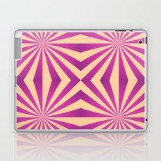 Purple and pale yellow - Geometric game Laptop & iPad Skin