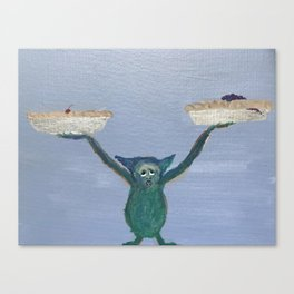 Weighing the Options : Pie Guy Canvas Print