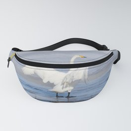 Swan lake in THE spring in THE North of Sweden Fanny Pack
