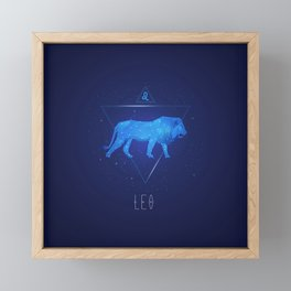 Leo sign gifts for boys and girls. Zodiac symbols. Framed Mini Art Print