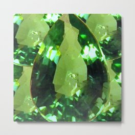 LIME GREEN PERIDOT GEMS AUGUST BIRTHSTONES Metal Print