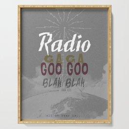 Radio Blah Blah Serving Tray