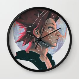 Red Riot Wall Clock