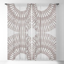 SPARK BROWN ON WHITE Blackout Curtain